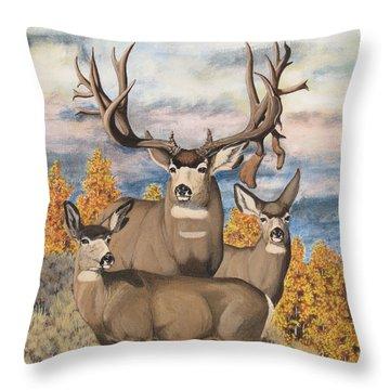 Avery Buck Throw Pillow