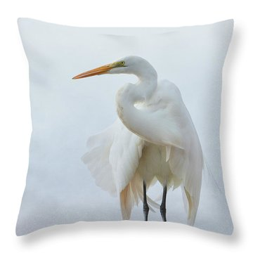 Avian Angel Throw Pillow by Fraida Gutovich