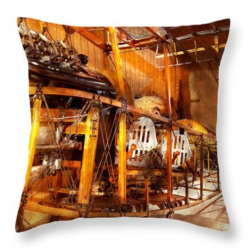 Aviation - Early Days Of Aviation Throw Pillow by Mike Savad