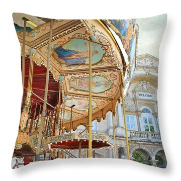 Avignon Carousel Throw Pillow