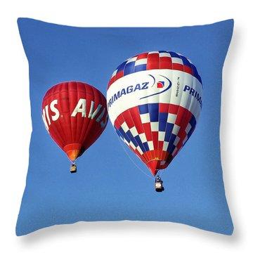 Avis Balloon Throw Pillow by John Swartz