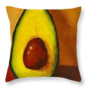 Avocado Palta 7 - Modern Art Throw Pillow