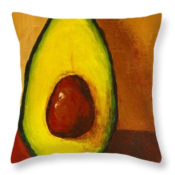 Avocado Palta 7 - Modern Art Throw Pillow