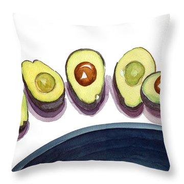 Avocados Throw Pillow
