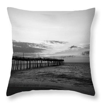 Avon Pier In Outer Banks Nc Throw Pillow
