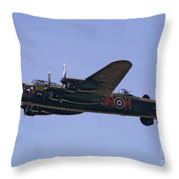 Avro 638 Lancaster At The Royal International Air Tattoo Throw Pillow by Paul Fearn