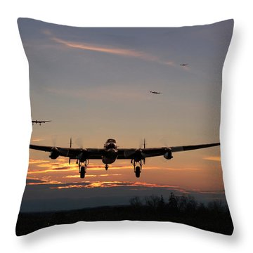 Avro Lancaster - Dawn Return Throw Pillow