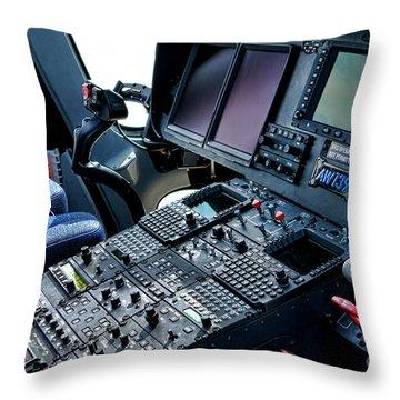 Aw139 Cockpit Throw Pillow