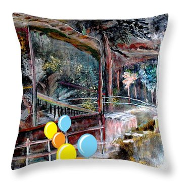 awaiting Christmas Throw Pillow