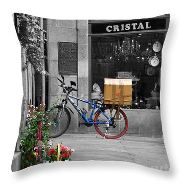 Awaiting Delivery Throw Pillow