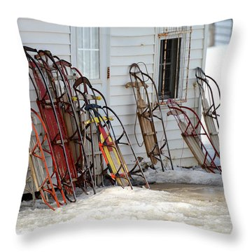 Throw Pillow featuring the photograph Awaiting Joy by Linda Mishler