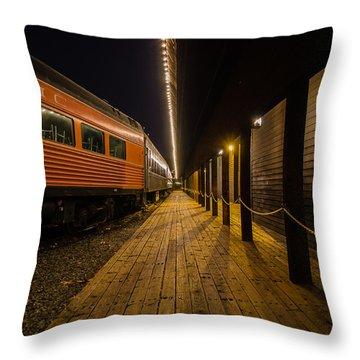 Awaiting Passengers Throw Pillow