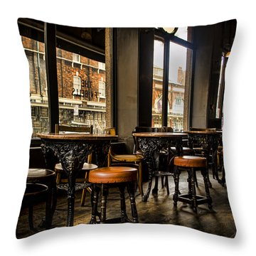 Awaiting Patrons Throw Pillow by Heather Applegate