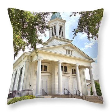 Throw Pillow featuring the photograph Awaiting The Congregation by Gordon Elwell