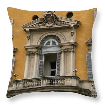 Throw Pillow featuring the photograph Awaiting The Pope by Robin Maria Pedrero