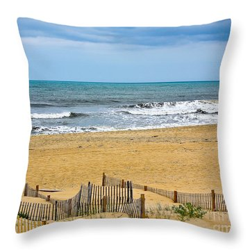 Awaiting The Storm - Sandbridge Virginia Throw Pillow