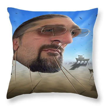 Awake . . A Sad Existence Throw Pillow