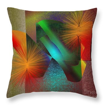 Awake Throw Pillow by Iris Gelbart