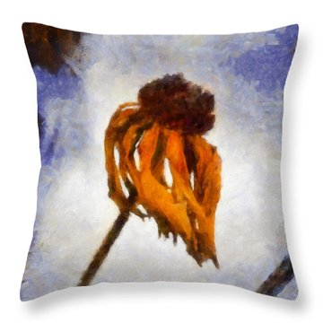 Throw Pillow featuring the painting Awaken A New Life by Joe Misrasi