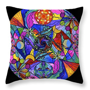 Awakened Poet Throw Pillow
