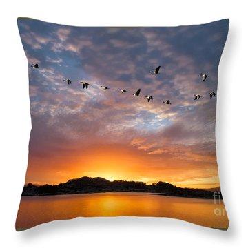 Awakening Throw Pillow by Alice Cahill