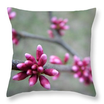 Awakening Bloom Throw Pillow