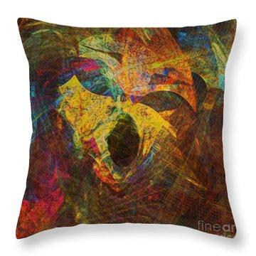 Awakening Throw Pillow by Klara Acel