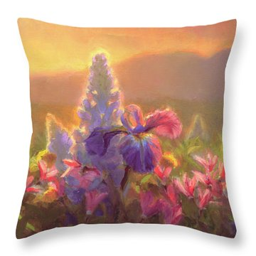 Awakening - Mt Susitna Spring - Sleeping Lady Throw Pillow