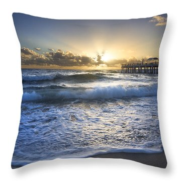 Awakening Of The Soul Throw Pillow by Debra and Dave Vanderlaan