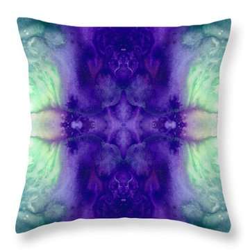 Awakening Spirit - Pattern Art By Sharon Cummings Throw Pillow by Sharon Cummings
