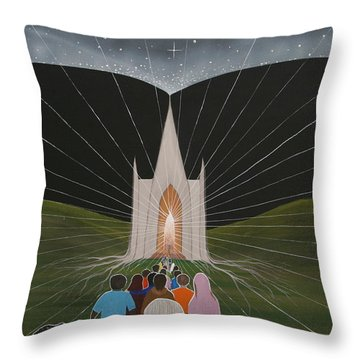 Throw Pillow featuring the painting Awakening by Tim Mullaney