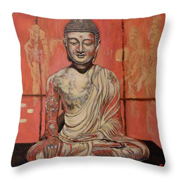 Awakening Throw Pillow by Tom Roderick
