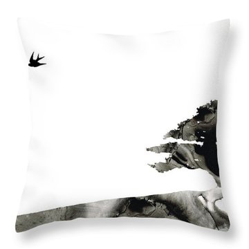 Awakening - Zen Landscape Art Throw Pillow