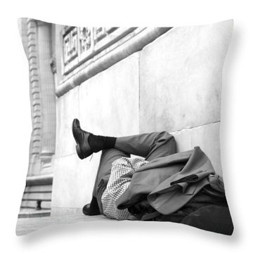 Away From It All Throw Pillow by Colleen Williams