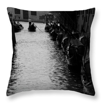 Away - Venice Throw Pillow by Lisa Parrish