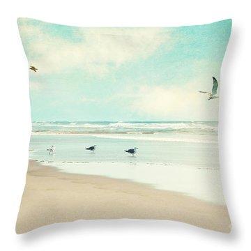 Away We Go Throw Pillow by Sylvia Cook