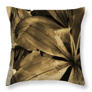 Awed V Throw Pillow by Yanni Theodorou