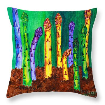Awesome Asparagus Throw Pillow