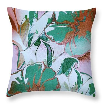 Throw Pillow featuring the digital art Awesome In Bloom by Gayle Price Thomas