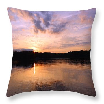 Throw Pillow featuring the photograph Awesome Sunset by Lorna Rogers Photography
