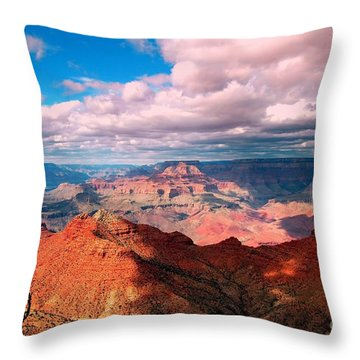 Awesome View Throw Pillow by Kathleen Struckle