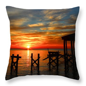 Awoke And Saw His Glory. Throw Pillow