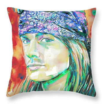 Axl Rose Portrait.2 Throw Pillow