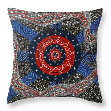 Ayahuasca Eclipse Throw Pillow