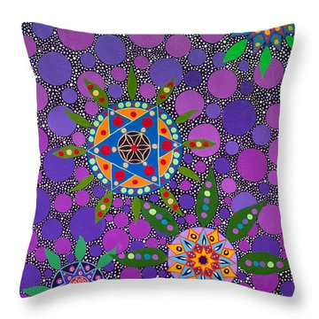 Ayahuasca Vision - The Healing Power Of Plants Throw Pillow