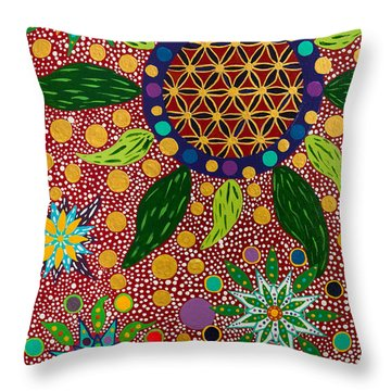 Ayahuasca Vision - The Opening Of The Heart Throw Pillow
