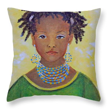 Ayana Beautiful Flower Throw Pillow by The Art With A Heart By Charlotte Phillips
