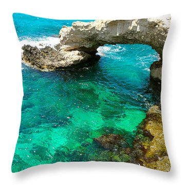 Ayia Napa In Cyprus Throw Pillow