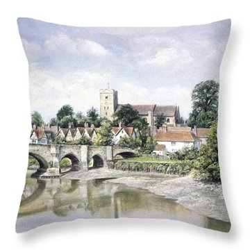 Aylesford Bridge Throw Pillow