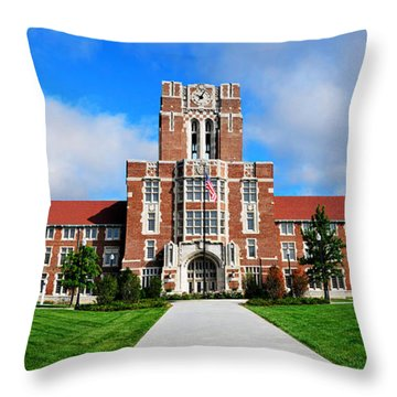 Throw Pillow featuring the photograph Ayres Hall by Paul Mashburn